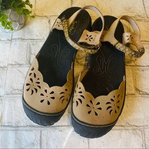 Jambu Floral Ankle Strap MaryJanes Size 10.5